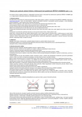 Pokyny pro správné užívání řetězů a řetězových kol