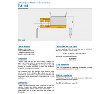 Samostředící TLK 110