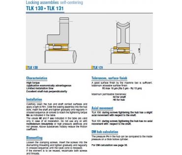 Samostředící TLK 130 a TLK 131