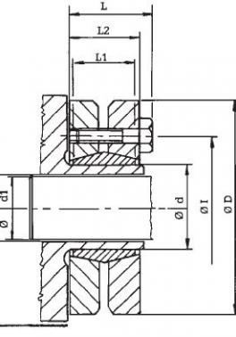 Upínací hřídelová pouzdra standartní RCK 19